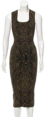 Ronny Kobo Knit Jacquard Sleeveless Dress