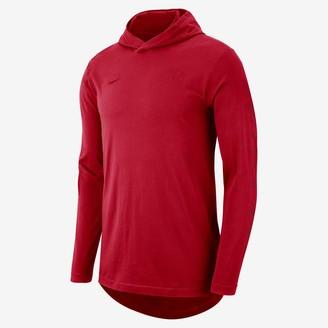 Nike Chicago Bulls Men's Hooded Long-Sleeve NBA T-Shirt