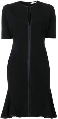 Givenchy V-Neck Dress with Ruffle Flare Hem