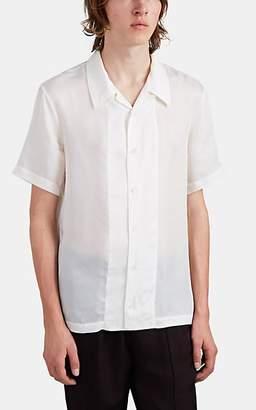 Helmut Lang Men's Silky Twill Camp Shirt - White