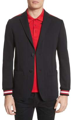Givenchy Stripe Trim Jersey Sport Coat