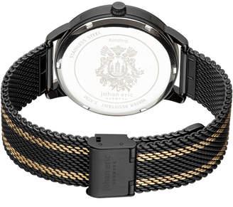Johan Eric Men's Kolding Watch w/ Mesh Strap, Black/Yellow Golden