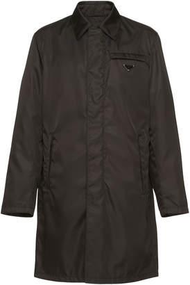 Prada Black Nylon Zip-Front Raincoat