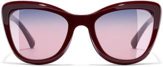 Chanel Clip On Sunglasses Black Rectangle Sunglasses