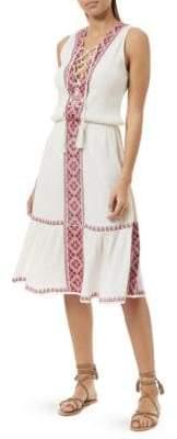 Melissa Odabash Gwyneth Cotton Blouson Dress