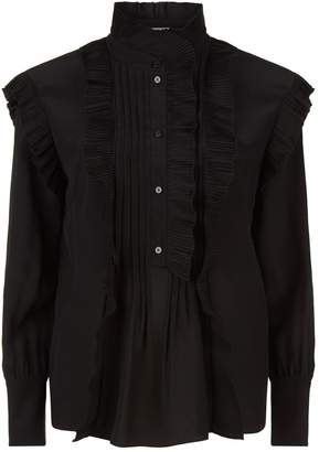 Chloé Pleated Ruffle Blouse