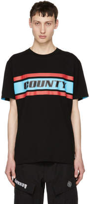 Marcelo Burlon County of Milan Black Color Band County T-Shirt