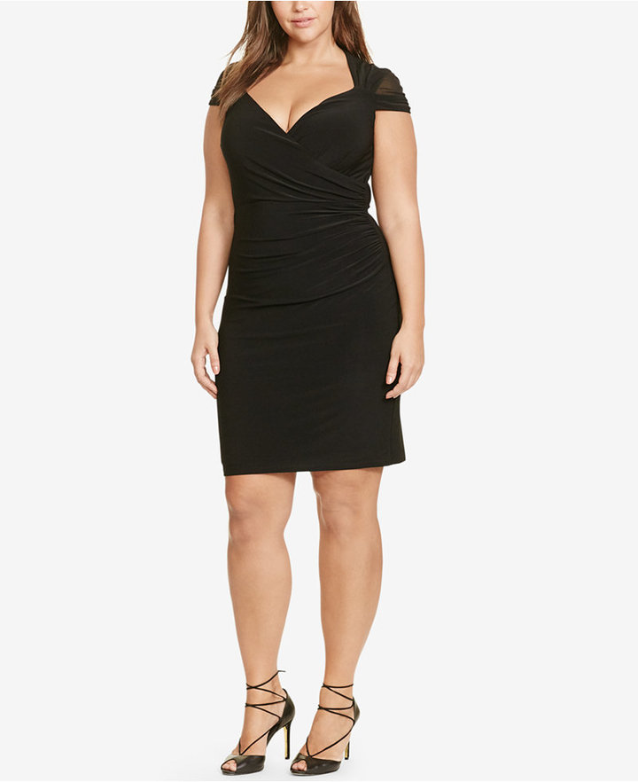 Lauren Ralph LaurenLauren Ralph Lauren Plus Size Ruched Dress