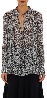 Derek Lam Women's Tieneck Blouse-BLACK, WHITE, NO COLOR $850 thestylecure.com
