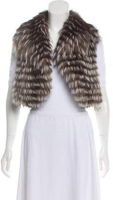 Ramy Brook Cropped Fur Vest