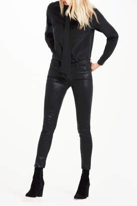 AG Adriano Goldschmied Legging-Ankle Crackle Leatherette