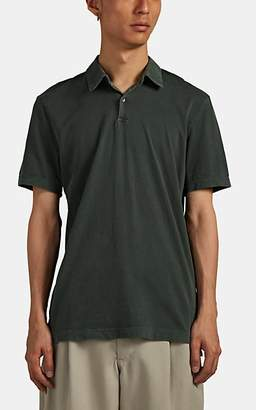 James Perse Men's Sueded Cotton Jersey Polo Shirt - Green