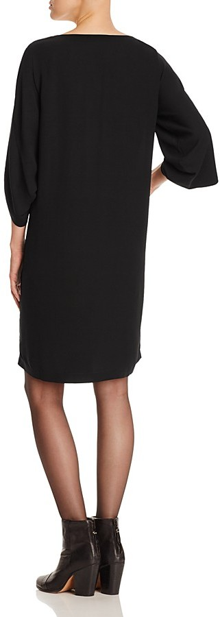 Eileen Fisher Tulip Sleeve Silk Dress 2