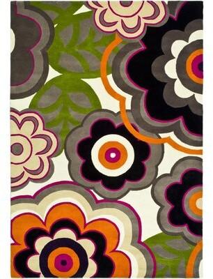 Ebern Designs Lockwood Hand-Tufted Wool Green/Gray/Black Area Rug Ebern Designs