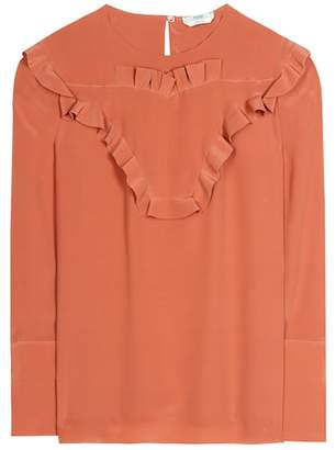 Fendi Ruffled silk blouse