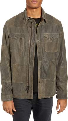 John Varvatos Patchwork Goat Leather Jacket