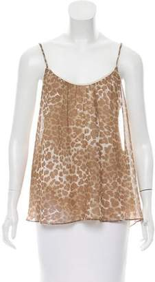 Aqua Sleeveless Animal Print Top