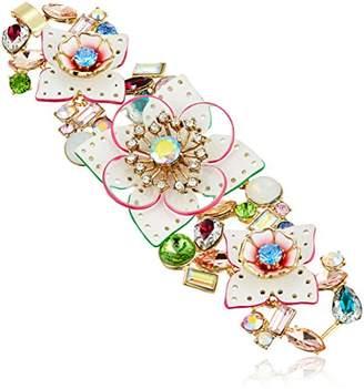 Betsey Johnson Leather Flower Bracelet