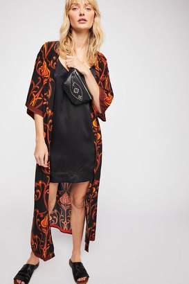 Lenni Roxi Deco Floral Print Kimono