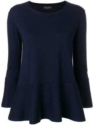 Roberto Collina flared knitted top