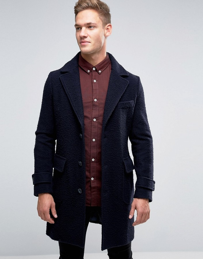 BenettonUnited Colors of Benetton Wool Overcoat With Bellow Pockets