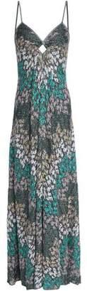 Missoni Cutout Metallic Crochet-Knit Maxi Dress