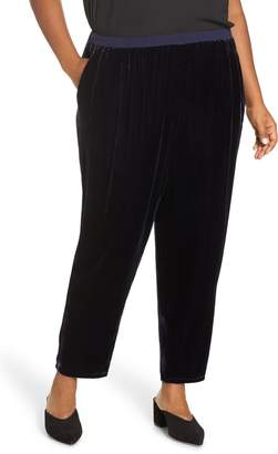 Eileen Fisher High Rise Velvet Ankle Pants
