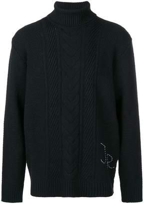 John Richmond roll neck sweater