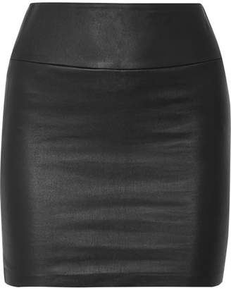 SPRWMN - Leather Mini Skirt - Black