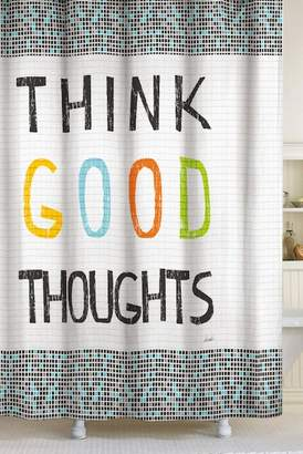 Lisa Weedn Think Good Thoughts Shower Curtain