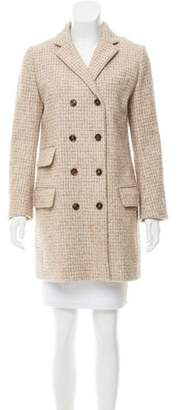 Chloé Double-Breasted Plaid Coat
