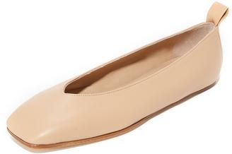 Helmut Lang Square Toe Ballet Flats $425 thestylecure.com