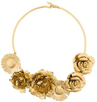 Aurelie Bidermann Selena statement flower necklace