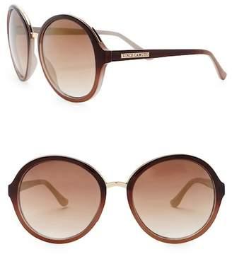 Vince Camuto Round 59mm Metal Bridge Sunglasses