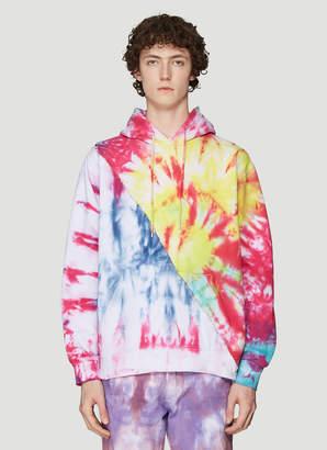 Stain Shade Tie-Dye Hooded Sweatshirt in Multicolour
