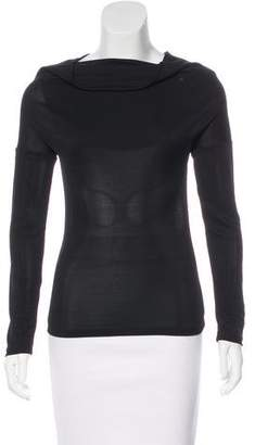 Dolce & Gabbana Long Sleeve Cowl Neck Top