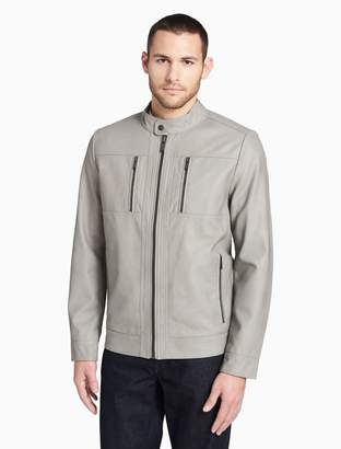 Calvin Klein smooth 4-pocket moto jacket