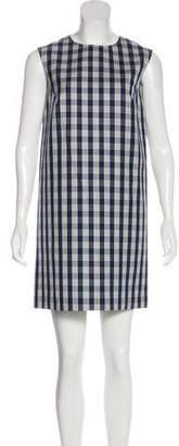 Agnona Plaid Sheath Dress