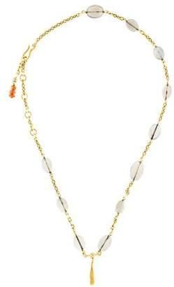 H.Stern 18K Moonstone, Sunstone & Diamond Pendant Necklace