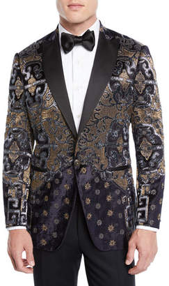 Etro Men's Paisley Embroidered Velvet Dinner Jacket