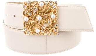 St. John Embellished Leather Belt