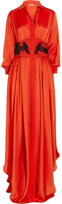 Bottega Veneta Silk-blend maxi dress