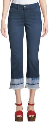 NYDJ Billie Tie-Dye Ankle Boot-Cut Jeans