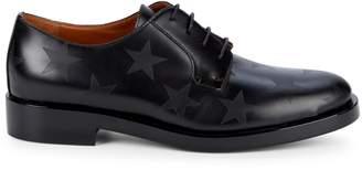 Valentino Garavani Star Print Leather Derby Shoes