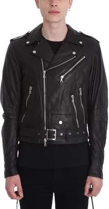 Amiri Light Weight Black Leather Jacket