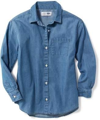 Old Navy Chambray Boyfriend Shirt for Girls