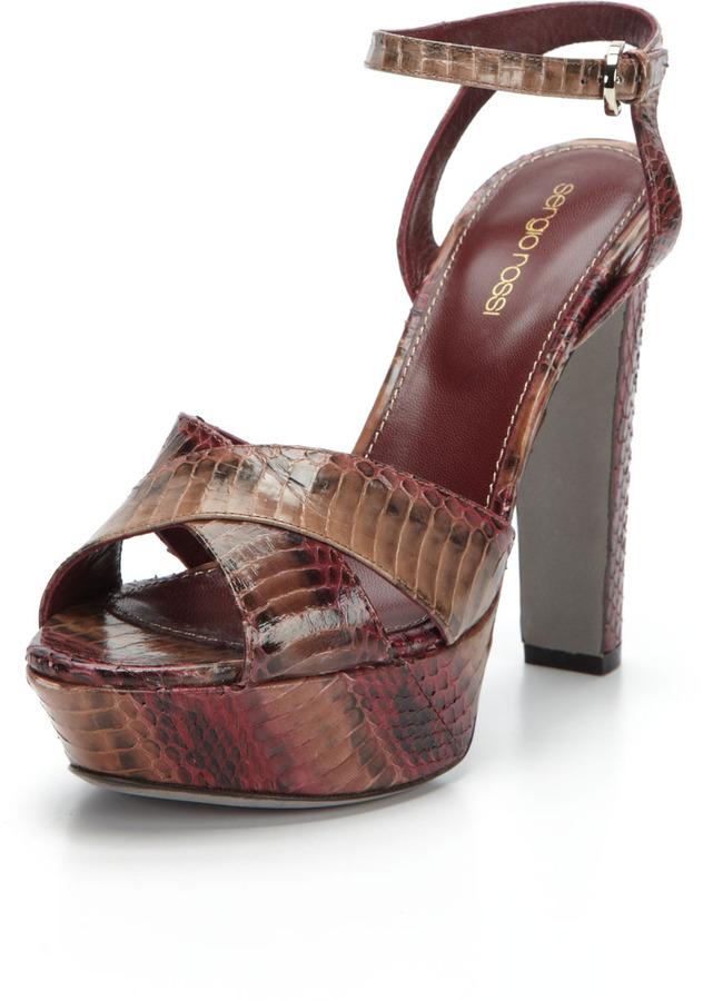 Sergio Rossi Watersnake Platform Sandal