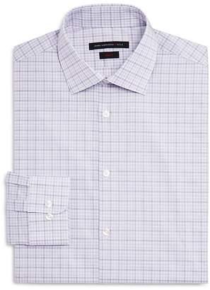 John Varvatos Check Slim Fit Dress Shirt