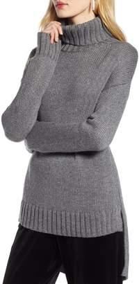 Halogen High/Low Turtleneck Sweater