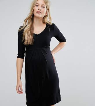 Isabella Oliver Pleat Front Skater Dress